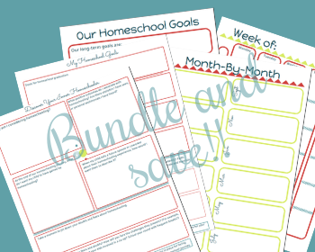 Homeschool Planning Pages and Worksheets